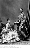 0081587 © Granger - Historical Picture ArchiveGISELA OF AUSTRIA, c1875.   Archduchess Gisela of Austria (1856-1930) and her fiance, Prince Leopold of Bavaria (1846-1930), photographed c1875.