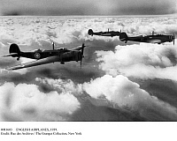 0081603 © Granger - Historical Picture ArchiveENGLISH AIRPLANES, 1939.   A British fighter squadron during World War II. Photograph, October 1939.