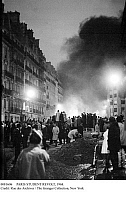 0081606 © Granger - Historical Picture ArchivePARIS STUDENT REVOLT, 1968.   Barricades being built at Rue Gay Lussac in the Latin Quarter of Paris, France, 10-11 May 1968.