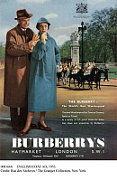 0081666 © Granger - Historical Picture ArchiveENGLISH COAT AD, 1953.   Advertisement for Burberrys waterproof coats.