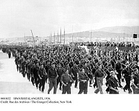 0081832 © Granger - Historical Picture ArchiveSPANISH FALANGISTS, 1936.   Nationalist volunteers from the extreme right Falange party marching during the Spanish Civil War, 4 December 1936.