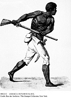 0082213 © Granger - Historical Picture ArchiveJAMAICA: RUNAWAY SLAVE.   Leonard Parkinson, active c1795, the Jamaican runaway slave turned guerilla leader. Steel engraving, 19th century.