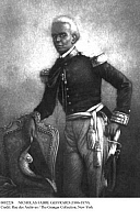 0082224 © Granger - Historical Picture ArchiveNICHOLAS FABRE GEFFRARD   (1806-1879). Haitian soldier and president, 1859-1867. Contemporary painting.
