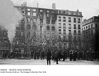 0082849 © Granger - Historical Picture ArchiveFRANCE: SAINT-ETIENNE.   The aftermath of a dynamite explosion and fire in the Place de l'Hotel de Ville, Saint-Etienne, France, 20 March 1907.
