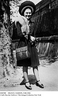 0082900 © Granger - Historical Picture ArchiveFRANCE: FASHION, 1940-1944.   A well-dressed Parisian woman photographed c1940-1944.