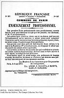 0082936 © Granger - Historical Picture ArchivePARIS COMMUNE, 1871.   A Paris Commune broadside, 8 May 1871, announcing the opening of a public school in a former Jesuit school.