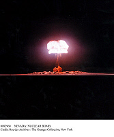 0082960 © Granger - Historical Picture ArchiveNEVADA: NUCLEAR BOMB.   The explosion of a nuclear bomb of about 19 megatons in the Nevada desert, 1952.