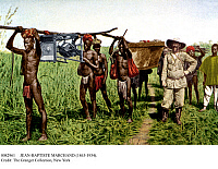 0082961 © Granger - Historical Picture ArchiveJEAN-BAPTISTE MARCHAND   (1863-1934). French soldier and explorer. Marchand with a group of porters during the Marchand Mission, also called the Congo-Nile Mission, 1895-1899.