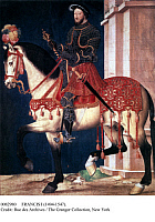 0082980 © Granger - Historical Picture ArchiveFRANCIS I (1494-1547).   King of France, 1515-1547. Painting attributed to Jean Clouet (c1485-c1540).