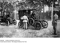 0082989 © Granger - Historical Picture ArchiveWORLD WAR I: FRANCE, 1914.   The requisition of 600 Parisian taxis, the 'taxis for the Marne,' to transport soldiers to the battlefield near Paris, France, during World War I. Photograph, September 1914.