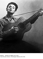 0084070 © Granger - Historical Picture ArchiveWOODY GUTHRIE (1912-1967).   American folk singer. Photograph, c1940.