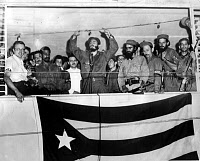 0085427 © Granger - Historical Picture ArchiveFIDEL CASTRO (1926-2016).   Cuban political leader. Castro delivering a speech following the overthrow of the dictatorship of Fulgencio Batista, 1959.