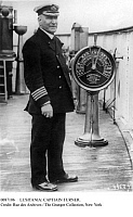 0087106 © Granger - Historical Picture ArchiveLUSITANIA: CAPTAIN TURNER.   Captain William Thomas Turner onboard the the Cunard steamship 'Lusitania,' c1907-15.