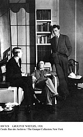 0087658 © Granger - Historical Picture ArchiveGROUP OF WRITERS, 1938.   The writers Wystan Hugh Auden, Christopher Isherwood and Stephen Spender. Photographed in 1938.