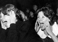 0088329 © Granger - Historical Picture ArchiveBEATLES FANS, 1963.   Hysterical Beatles fans at a concert in Sheffield, England. Photograph, 5 November 1963.