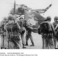 0089291 © Granger - Historical Picture ArchiveSANTO DOMINGO, 1965.   U.S. Marines being withdrawn from Santo Domingo. The Marines were replaced by the Inter-American Peace Force, following the Junta revolution in the Dominican Republic. Photographed 26 May 1965.