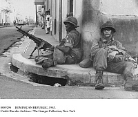 0089296 © Granger - Historical Picture ArchiveDOMINICAN REPUBLIC, 1965.   U.S. members of the Inter-American Peace Force in the Dominican Republic, following the Junta revolution of May 1965. Photographed October 1965.