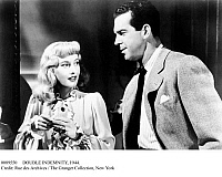 0089550 © Granger - Historical Picture ArchiveDOUBLE INDEMNITY, 1944.   Barbara Stanwyck and Fred MacMurray in a scene from 'Double Indemnity,' 1944.