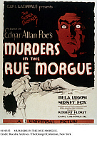 0101553 © Granger - Historical Picture ArchiveMURDERS IN THE RUE MORGUE.   Movie poster for 'Murders in the Rue Morgue,' a motion picture adaptation of the Edgar Allan Poe story starring Bela Lugosi and Sidney Fox, 1932.
