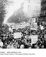 0106097 © Granger - Historical Picture ArchivePARIS: PROTEST, 1958.   Student demonstration in Paris, France, protesting the lack of professors and government funding, 10 December 1958.