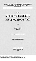 0106853 © Granger - Historical Picture ArchiveSIGMUND FREUD: LEONARDO.   Title page of the second edition of Sigmund Freud's 'A Childhood Memory of Leonardo da Vinci,' published at Leipzig and Vienna, 1919.