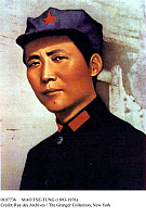 0107736 © Granger - Historical Picture ArchiveMAO TSE-TUNG (1893-1976).   Chinese Communist leader. Mao as he appeared c1936. Chinese poster, late 1960s.