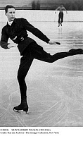 0108096 © Granger - Historical Picture ArchiveMONTGOMERY WILSON   (1909-1964). Canadian figure skater. Photographed at the 1936 Winter Olympic Games in Garmisch-Partenkirchen, Germany.