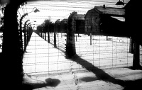 0108410 © Granger - Historical Picture ArchiveAUSCHWITZ-BIRKENAU CAMP.   View of the Auschwitz-Birkenau concentration camp in Poland, operated by the Nazis between May 1940 and January 1945 during World War II.