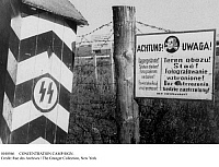 0108566 © Granger - Historical Picture ArchiveCONCENTRATION CAMP SIGN.   Sign posted near the entrance of a Nazi concentration camp in German-occupied Poland during World War II, forbidding the taking of photographs, 1940-44.