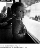 0108605 © Granger - Historical Picture ArchiveDEATH CAMP SURVIVOR, 1945.   A young French boy, survivor of a Nazi concentration camp, photographed on his return to France at the end of World War II, May or June 1945.