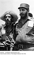 0109144 © Granger - Historical Picture ArchiveCASTRO & CIENFUEGOS, 1959.   Cuban revolutionary leader Fidel Castro (right) photographed in Havana with Camilo Cienfuegos Gorriarán, one of the commanders of the revolutionary guerilla forces, in the days following their victory over the troops of dictator Fulgencio Batista, January 1959.