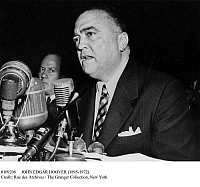 0109206 © Granger - Historical Picture ArchiveJOHN EDGAR HOOVER   (1895-1972). American lawyer and public official. Photographed while testifying as F.B.I. director at a hearing of the U.S. Senate's Internal Security Subcommittee on the matter of Harry Dexter White, the late U.S. Treasury official accused of espionage, 17 November 1953.