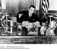 0109219 © Granger - Historical Picture ArchiveJOHN EDGAR HOOVER   (1895-1972). American lawyer and public official. Photographed in his office as F.B.I. director, c1945.