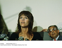 0109694 © Granger - Historical Picture ArchiveJANE FONDA (1937- ).   American actress. Photographed during a conference against the Vietnam War, 25 July 1972, probably in Paris, where negotiations to end the conflict were being held.