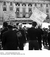0109734 © Granger - Historical Picture ArchiveVIETNAM WAR PROTEST, 1966.   Protesters demonstrating against U.S. policy in Vietnam in the Place de la République in Paris, France, 1 May 1966.