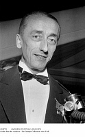 0109751 © Granger - Historical Picture ArchiveJACQUES COUSTEAU (1910-1997).   French oceanographer. Photographed at a gala in Paris in honor of his film 'The Silent World,' 8 February 1956.