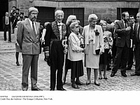 0109764 © Granger - Historical Picture ArchiveJACQUES COUSTEAU (1910-1997).   French oceanographer. Cousteau (second from left) photographed with members of his family at the Institut de France in Paris, on the occasion of his becoming a member of the Académie Française, 22 June 1989.