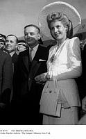 0110172 © Granger - Historical Picture ArchiveEVA PERÓN (1919-1952).   María Eva Duarte de Perón. Second wife of Juan Domingo Perón, president of Argentina. The Argentine First Lady with French Foreign Minister Georges Bidault during the Perón's official visit to France, 1947.