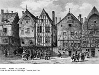 0110606 © Granger - Historical Picture ArchiveREIMS: 17th CENTURY.   The market square in the northern French city of Reims during the 17th century. Lithograph, French, 19th century.