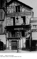 0110645 © Granger - Historical Picture ArchivePARIS: LE CHAT NOIR.   The famous Montmartre cabaret 'Chat Noire' (Black Cat) at 68 Boulevard de Clichy, c1900.
