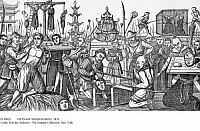 0110824 © Granger - Historical Picture ArchiveVIETNAM: MISSIONARIES, 1839.   Torture and execution of Catholic missionaries in Tonkin in northern Vietnam, November 1839. Contemporary wood engraving.