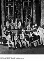 0111122 © Granger - Historical Picture ArchiveDUKE ELLINGTON (1899-1974).   American musician and composer. Ellington, right, with his orchestra at the Oriental Theater in Chicago, Illinois, 1931. Among the musicians are Freddy Jenkins, Coutie Williams, Johnny Hodges and Barney Bigard.