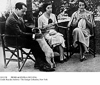 0111138 © Granger - Historical Picture ArchivePRIMO de RIVERA (1903-1936).   José Antonio Primo de Rivera. Spanish political leader, founder of the Spanish Falange. With his sisters, c1935.