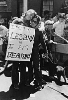 0111486 © Granger - Historical Picture ArchiveGAY RIGHTS PROTEST, 1970.   Women at a gay rights demonstration in Greenwich Village, New York City, 29 June 1970.