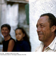 0111760 © Granger - Historical Picture ArchiveALBERT CAMUS (1913-1960).   French writer. Vacationing in Greece in the late 1950s with wife Francine and daughter Catherine.