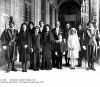 0111781 © Granger - Historical Picture ArchiveKENNEDY FAMILY: ROME, 1939.   Joseph Kennedy, U.S. ambassador to Great Britain, at the Vatican in Rome with his wife and children, representing the United States at the coronation of Pope Pius XII, March 1939.