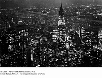 0112019 © Granger - Historical Picture ArchiveNEW YORK: MANHATTAN, 1941.   Looking northeast from the Empire State Building at night, toward the Chrysler Building, the East River and Queens, 1941.