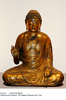 0112132 © Granger - Historical Picture ArchiveJAPAN: BUDDHA.   Amitabha Buddha. Gilded and laquered wood, Heian period, Fujiwara, 12th century.