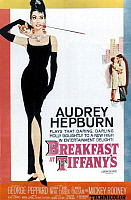 0112206 © Granger - Historical Picture ArchiveBREAKFAST AT TIFFANY'S.   American poster for the film 'Breakfast at Tiffany's,' 1961, based on Truman Capote's novel and featuring Audrey Hepburn as Holly Golightly.