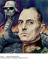 0112293 © Granger - Historical Picture ArchiveGERD VON RUNDSTEDT.   Karl Rudolf Gerd von Rundstedt (1875-1953). German officer. Caricature published on the cover of 'Time' magazine, 31 August 1942, during World War II, while von Rundstedt was Hitler's commander on the western front.